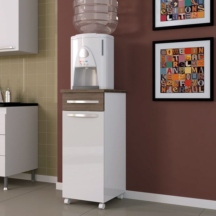 Mueble de cocina multiuso mod. maia blanco/nogal 86 x 40 x 42 cm ...