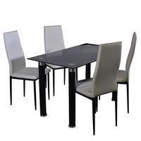 Juego-de-comedor-blanco-mesa---4-sillas