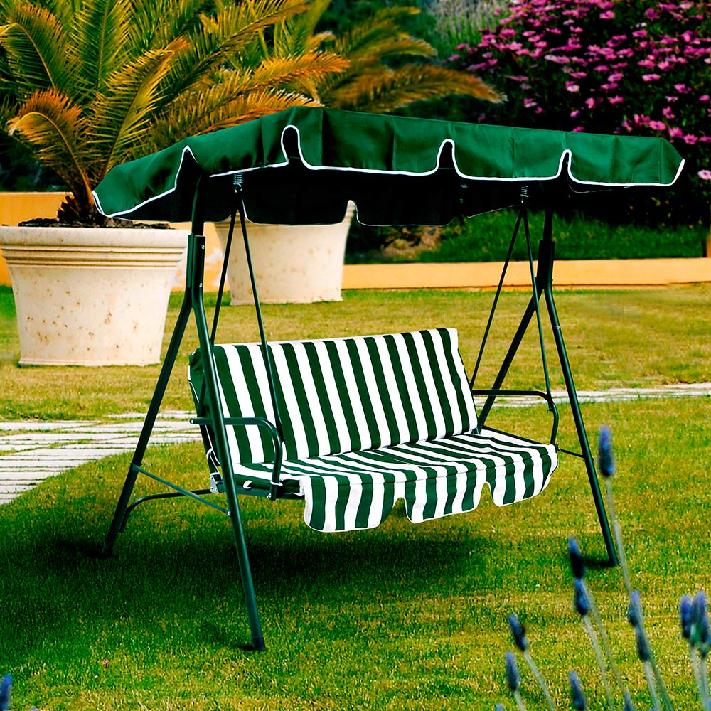 Hamaca Para Jard N Color Verde Blanca Geant ~ Cosas De Jardin De Segunda Mano