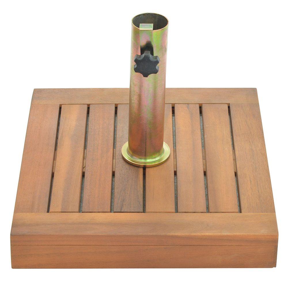 Base para sombrilla en madera 15 kg geant - Base para sombrilla ...