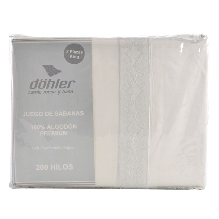 Juego-de-sabanas-king-size-DOHLER-200-hilos-Blanco
