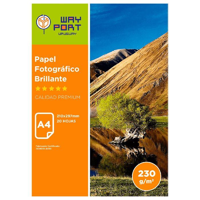 Papel-WAY-PORT-Glossy-fotografico-A4-230-g-20-hojas