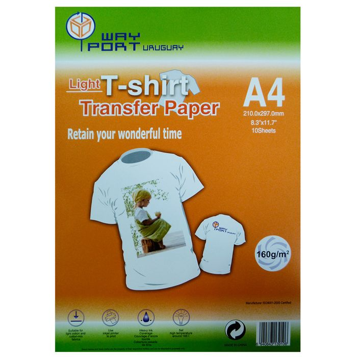 Papel-WAY-PORT-Transfer-Light-A4-10-hojas
