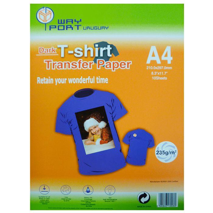 Papel-WAY-PORT-Transfer-dark-A4-10-hojas