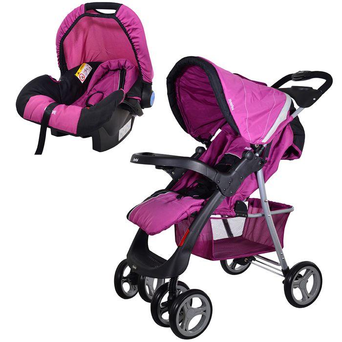 Coche-con-baby-silla-INFANTI-Mod.-SE30-rosado