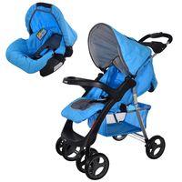 Coche-con-baby-silla-INFANTI-Mod.-SE30-negro-azul