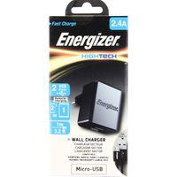 Cargador-pared-ENERGIZER-2-USB-con-cable-micro-2.4A-negro