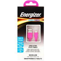 Cable-flat-USB-MicroUSB-ENERGIZER-1.2-m-rosa----