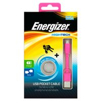Cable-llavero-ENERGIZER-USB-MicroUSB-rosa-------