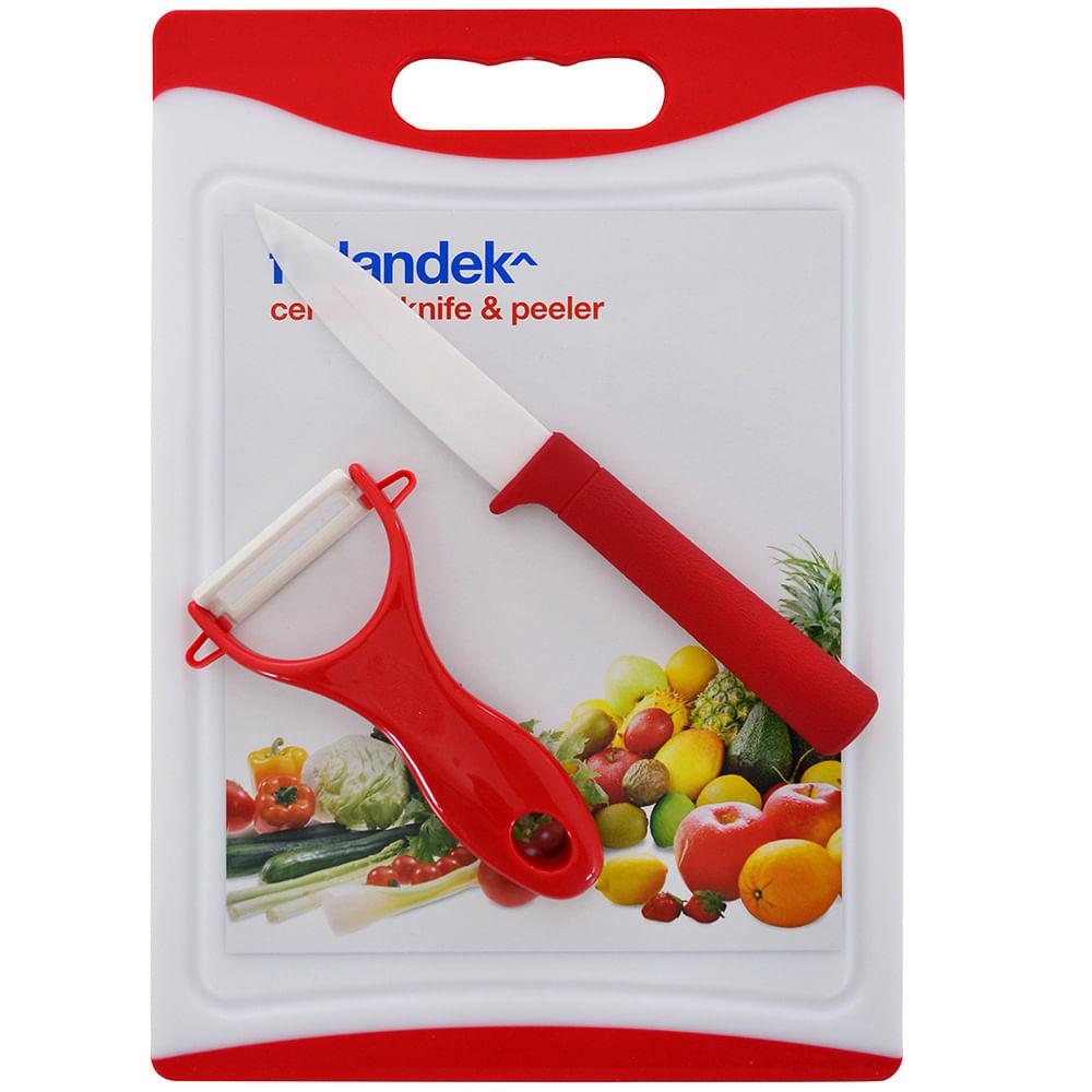 Set cuchillo cer mica pela papas y tabla para cortar geant for Set cuchillos villeroy boch tabla
