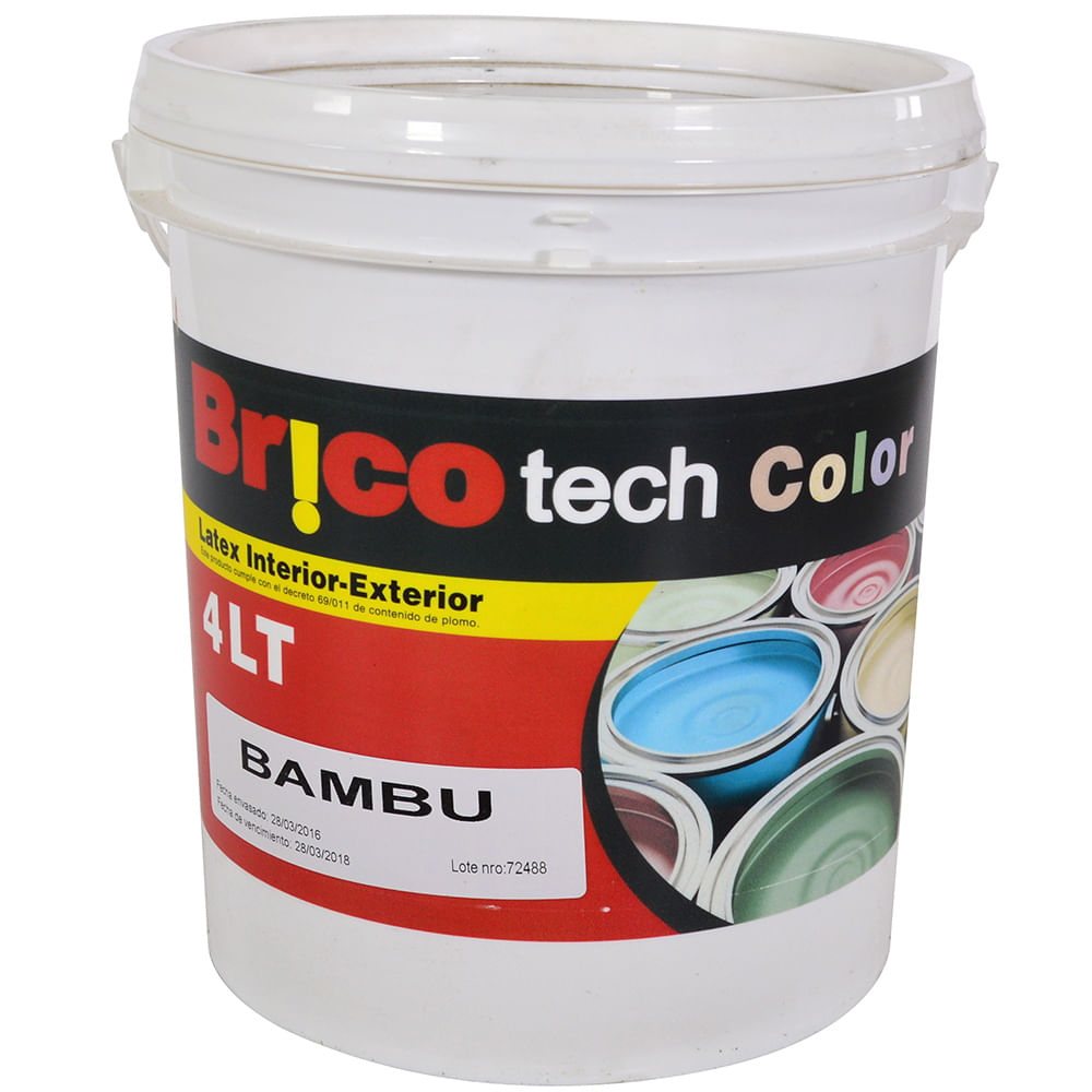 Pintura brico tech color bamb 4 l geant for Color bambu pintura