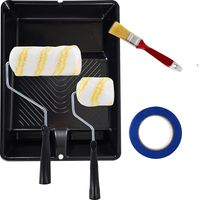 kit-de-pintura-BR-CO-Tech--cinta-de-enmascarar-rodillo-de-3-4-y-6-pulgadas-bandeja-de-9-pulgadas-pincel-de-1-pulgada