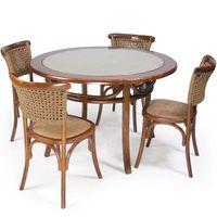 Juego-de-comedor-madera-4-sillas