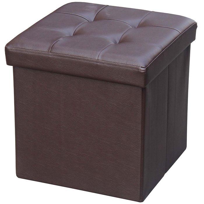 Puf-baul-eco-cuero-color-marron