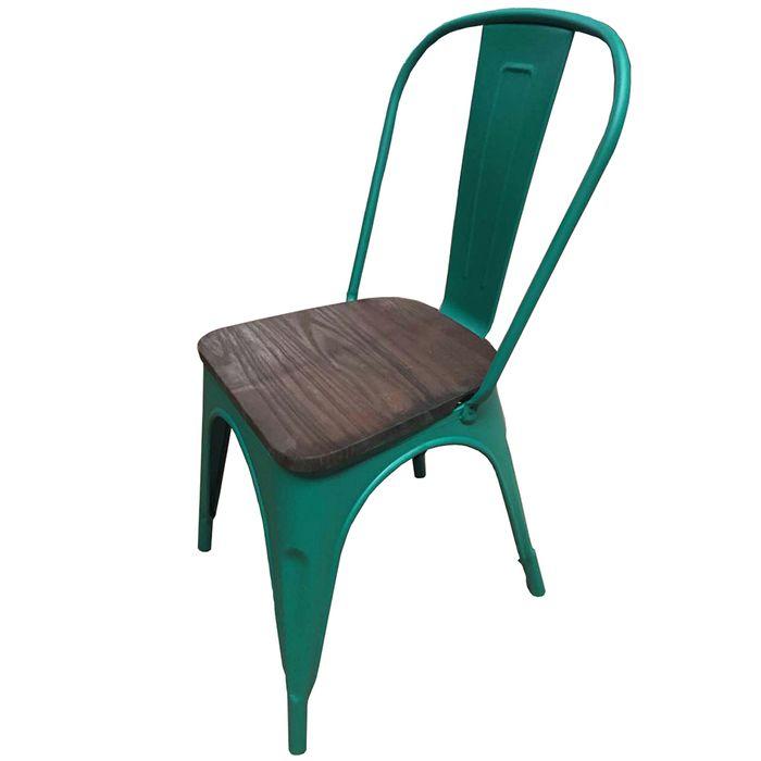 Silla-Mod.-Tolix-de-metal-opaca-asiento-de-madera-color-verde