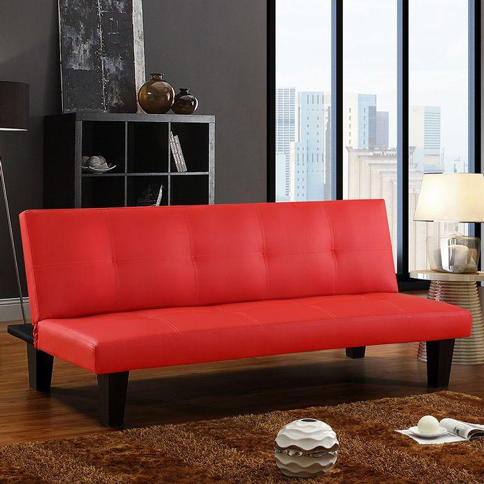 Sofa-cama-color-rojo