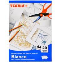 Block-cartulina-TEORIA--blanca-A4-20-hojas-160-g