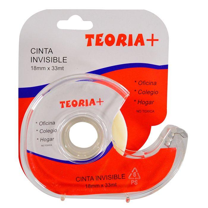 Cinta-adhesiva-TEORIA--con-dispensador-18-mm-x-33-m-invisible
