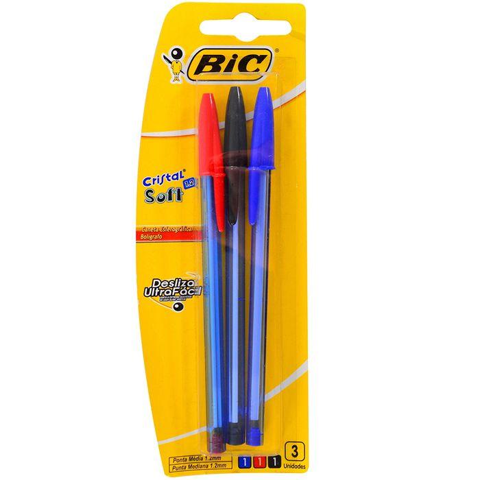 Boligrafo-BIC-Cristal-Soft-x-3-un.-azul-rojo-negro