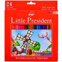 Lapices-de-colores-LITTLE-PRESIDENT-acuarelables-x-24-un.