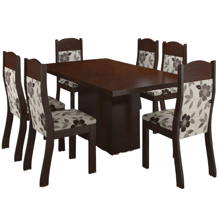 juego de comedor 6 sillas chocolate geant