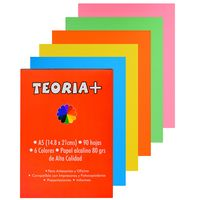 Block-papel-obra-color-A5-80-g