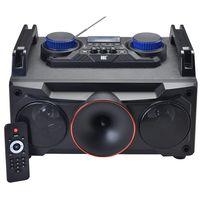 Parlante-SOUDBOOSTER-Mod-DJ210-Potencia--25w-RMS-Conexion-Bluetooth-USB-SD-AUX-Microfono-Sintoniza-FMGarantia-1-año