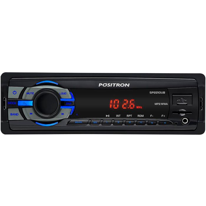 Autoradio-POSITRON-Mod-SP-2210-Reproduce-MP3-Conexion-USB-SD-Bluetooth-Sintoniza-AM-FMGarantia-1-año
