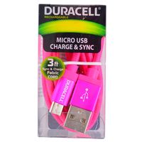 Cable-microusb-DURACELL-90-cm-rosa-Mod.-LE2176