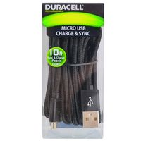 Cable-microusb-DURACELL-3mts-negro-Mod.-LE2190