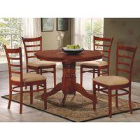Juego-de-comedor-en-madera-mesa---4-sillas-Diam.105-cm