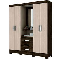 Placard-Mod.-Capellina-4-puertas-3-cajones-color-chocolate-200x163x47-cm