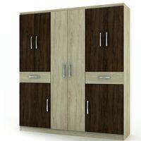 Placard-Mod.-Caribe-8-puertas-color-chocolate-y-nuez-200x156x43-cm