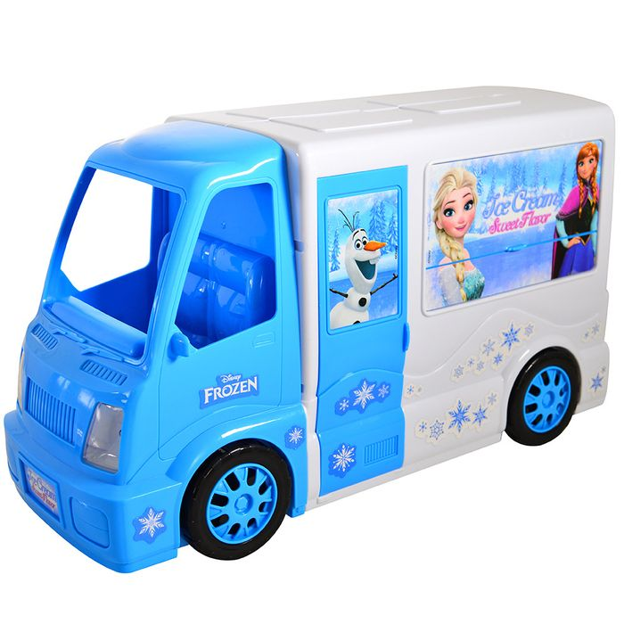 Camion-puesto-de-venta-de-helados-frozen-con-accesorios