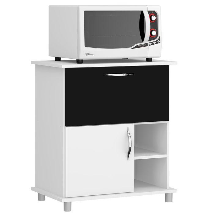 Armario-para-microondas-blanco-o-negro