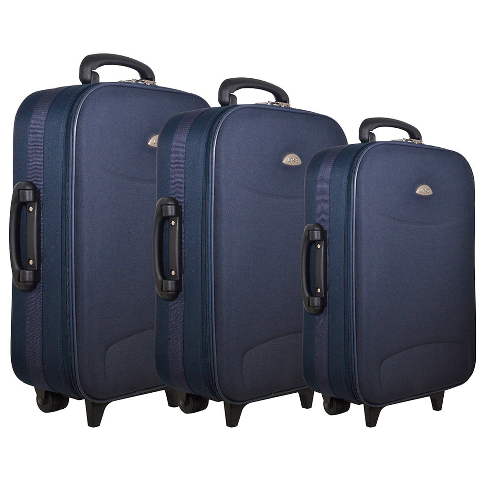 3ce8a2cdd Valijas set 3 piezas con 2 ruedas azul - disco