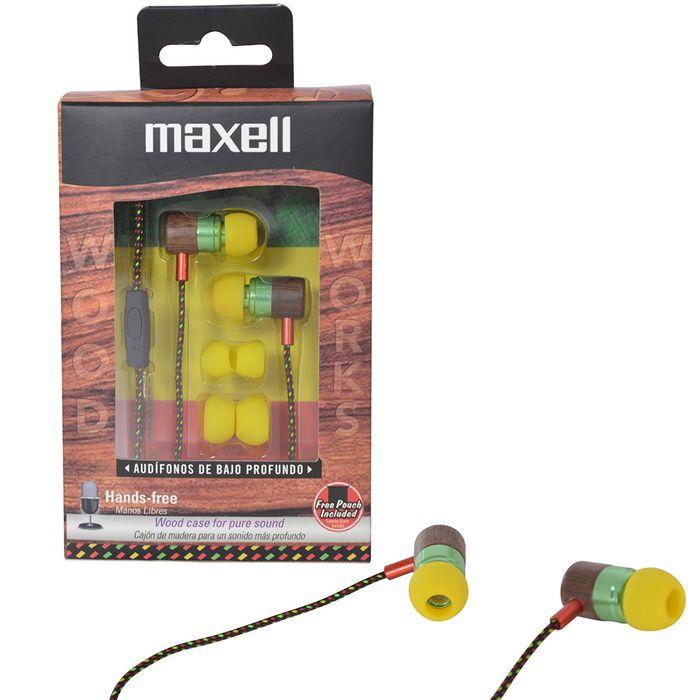 Auricular-en-madera-con-microfono-MAXELL