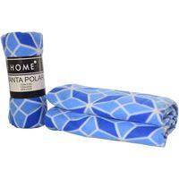Manta-polar-HOME-de-viaje-130-x-150-cm-estampado-geometrico-petroleo