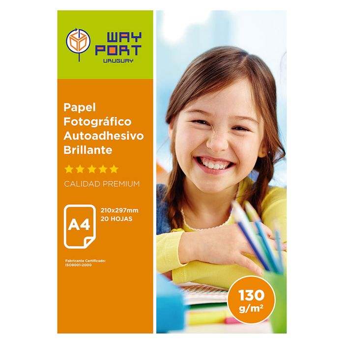 Papel-WAY-PORT-Glossy-autoadhesivo-A4-128-g-20-hojas