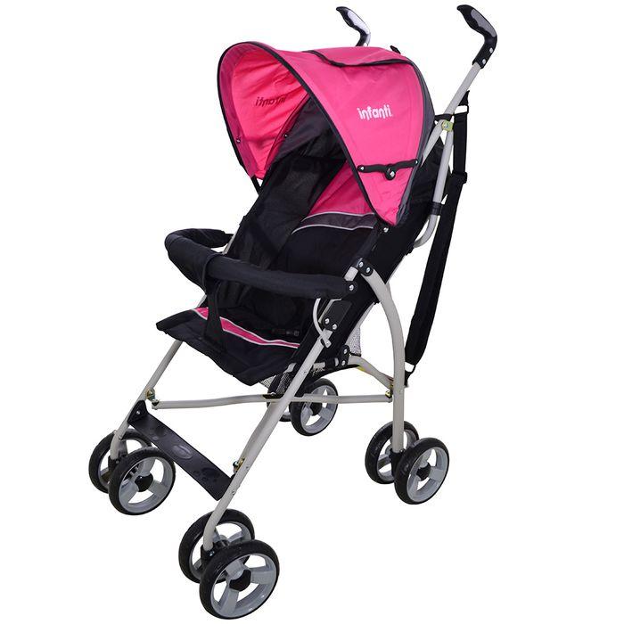 Coche-par-INFANTI-Mod.-h108-negro-rosa