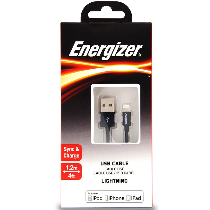 Cable-USB-Lightning-ENERGIZER-1.2-m-negro-------