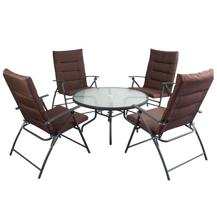 Juego para jardín 4 sillas + 1 mesa - geant