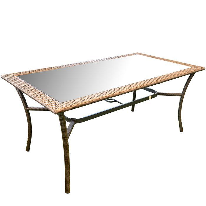 Mesa-en-acero-rattan-y-vidrio-sillas-no-incluidas
