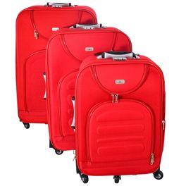 0ea3126fa Set de 3 valijas con 4 ruedas dobles color rojo - geant