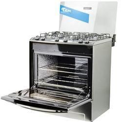Cocina-TEM-Mod.-Celebracion-5-hornallas-acero-inox.
