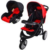 Coche-triciclo-con-baby-silla-BEBESIT-Mod.-fox-color-rojo