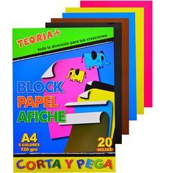 Block-papel-afiche-TEORIA--20-hojas-de-colores-A4-120-g
