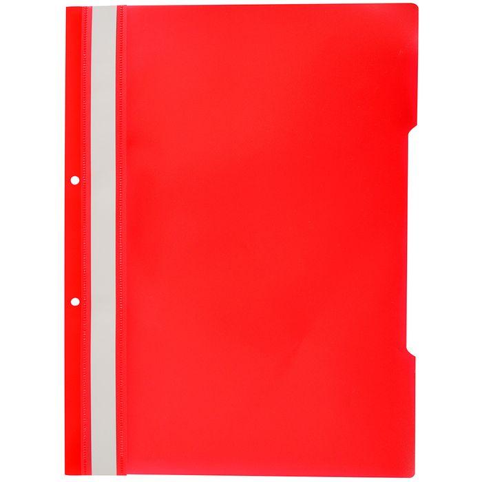 Carpeta-tapa-transparente-A4-roja