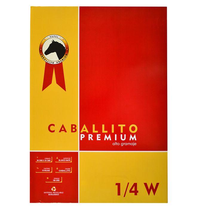 Block-dibujo-1-4W-CABALLITO-Premium-10-hojas-180-g