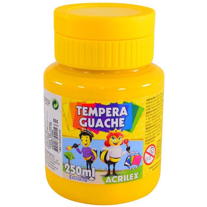 Tempera-escolar-ACRILEX-250-ml-amarillo